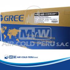 EQUIPO A/C SPLIT DECORATIVO GREE R-410 GWC18QDD3DNA6F (18´000 BTU)