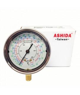 "LOW GLYCERIN MANOMETER RG-250 / PSI-R22-134A-410A-1/8 ""NTP ASHIDA"