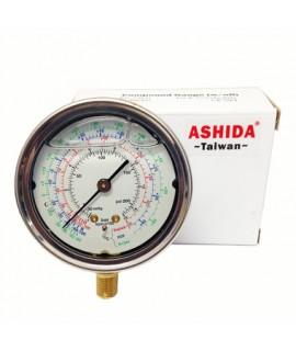 "HIGH GLYCERIN MANOMETER RG-500 / PSI-R22-134A-1/8 ""NTP ASHIDA"